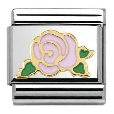 Pink Rose Composable Charm