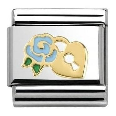 Blue Rose/Lock Composable Charm