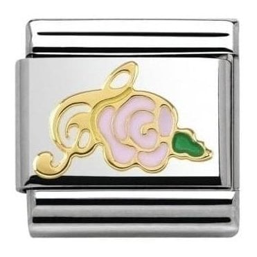 Pink Rose Coposable Charm
