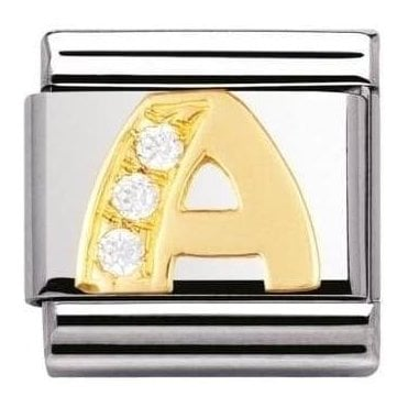 Composable Classic Letters A Cubic Zirconia