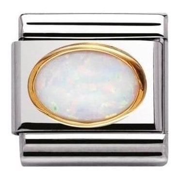 Composable Classic Link Oval Hard Stones White Opal (030502/07)