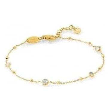 Bella Bracelet In Sterling Silver With Cubic Zirconia (012_Yellow Gold)