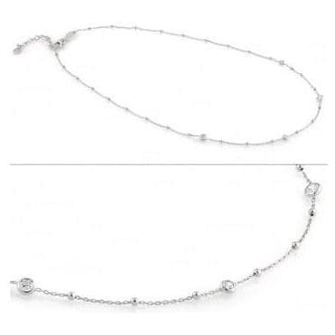Bella Necklace In Sterling Silver With Cubic Zirconia (010_Silver)