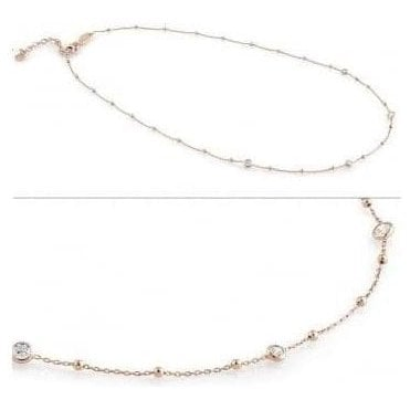Bella Necklace In Sterling Silver With Cubic Zirconia (011_Rose Gold)