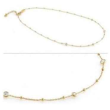 Bella Necklace In Sterling Silver With Cubic Zirconia (012_Yellow Gold)