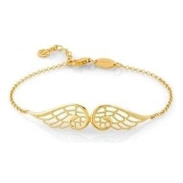 Angel Bracelet In Sterling Silver (Double) (012_Yellow Gold)