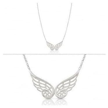 Angel Necklace In Sterling Silver (Double) (010_Silver)