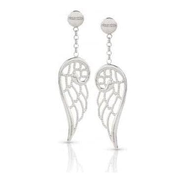 Angel Earrings In Sterling Silver (Small) (010_Silver)