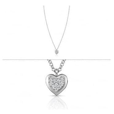 Gioie Necklace In Sterling Silver And Cubic Zirconia (001_Heart)