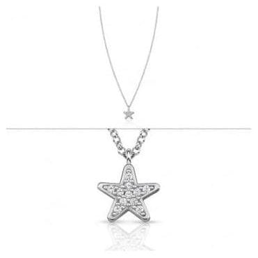 Gioie Necklace In Sterling Silver And Cubic Zirconia (005_Star)