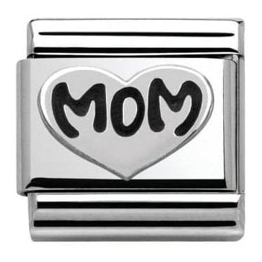 Composable Classic Link Oxidized Symbols Mom Heart (330101/10)