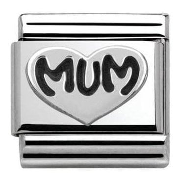Composable Classic Link Oxidized Symbols Mum Heart (330101/12)