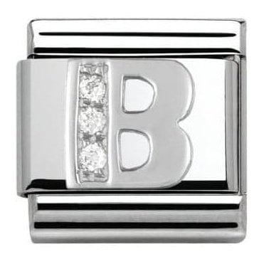 Composable Classic Alphabet Cubic Zirconia And 925 Silver (B)