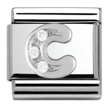 Composable Classic Alphabet Cubic Zirconia And 925 Silver (C)