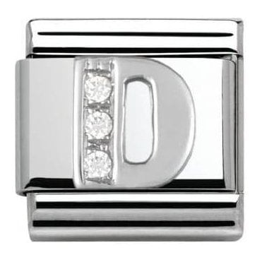 Composable Classic Alphabet Cubic Zirconia And 925 Silver (D)