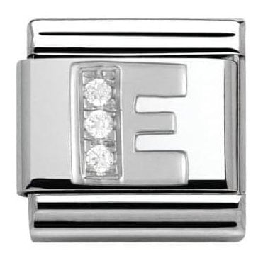Composable Classic Alphabet Cubic Zirconia And 925 Silver (E)