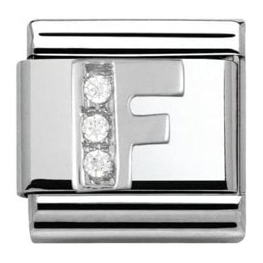 Composable Classic Alphabet Cubic Zirconia And 925 Silver (F)