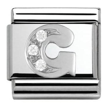 Composable Classic Alphabet Cubic Zirconia And 925 Silver (G)