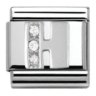 Composable Classic Alphabet Cubic Zirconia And 925 Silver (H)