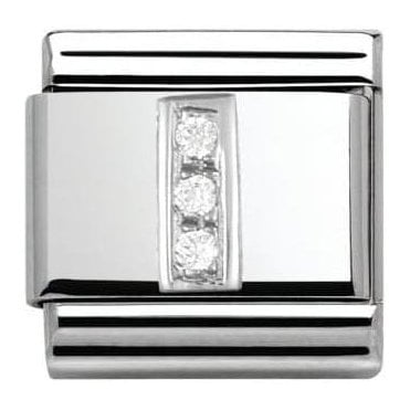 Composable Classic Alphabet Cubic Zirconia And 925 Silver (I)