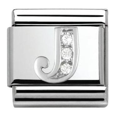 Composable Classic Alphabet Cubic Zirconia And 925 Silver (J)