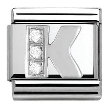 Composable Classic Alphabet Cubic Zirconia And 925 Silver (K)
