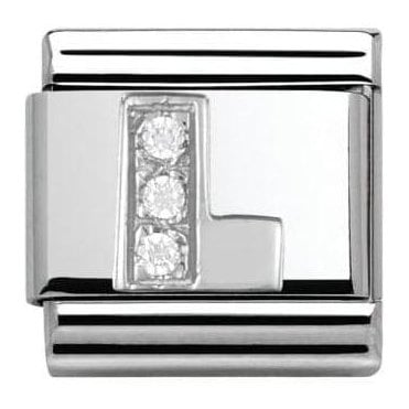Composable Classic Alphabet Cubic Zirconia And 925 Silver (L)