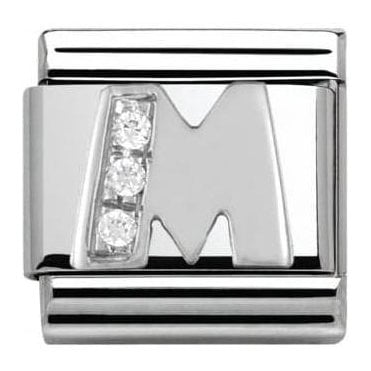 Composable Classic Alphabet Cubic Zirconia And 925 Silver (M)