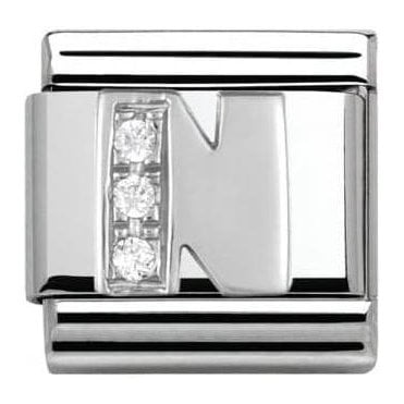 Composable Classic Alphabet Cubic Zirconia And 925 Silver (N)