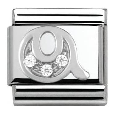 Composable Classic Alphabet Cubic Zirconia And 925 Silver (Q)