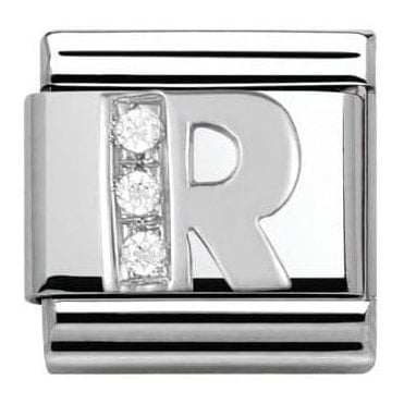 Composable Classic Alphabet Cubic Zirconia And 925 Silver (R)