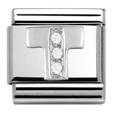 Composable Classic Alphabet Cubic Zirconia And 925 Silver (T)