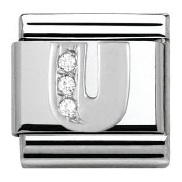 Composable Classic Alphabet Cubic Zirconia And 925 Silver (U)