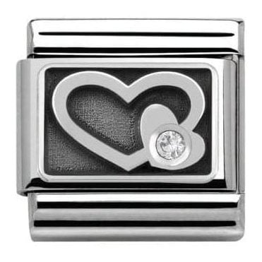 Composable Classic Link Symbols Engraved White Heart (330314/05)