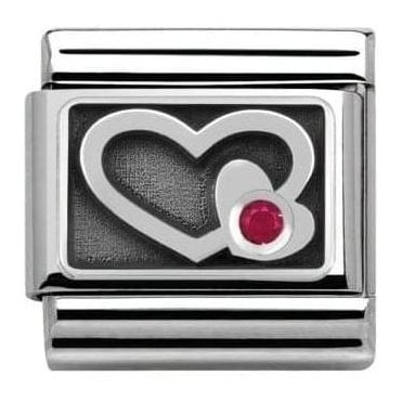 Composable Classic Link Symbols Engraved Red Heart (330314/06)