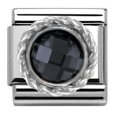 Composable Classic Link Cz Round Faceted Stones Black (330601/011)