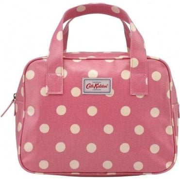 Small Boxy Bag Button Spot Vintage Pink 594707