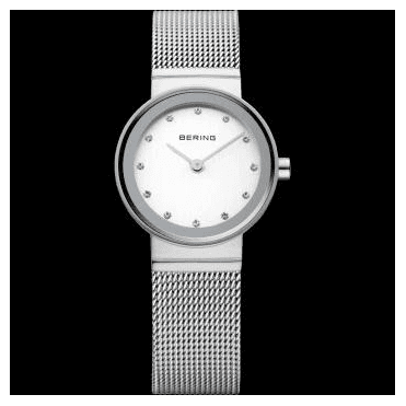 Classic Watch, Silver Mesh Strap and Silver Dial 10122-000