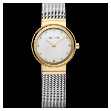 Classic Watch, Silver Mesh Strap and White Dial 10122-001