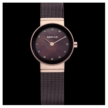 Classic Watch, Brown Mesh Strap and Brown Dial 10122-265
