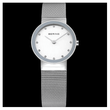 Classic Watch, Silver Mesh Strap and Silver Dial 10126-000