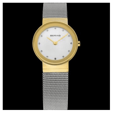 Classic Watch, Silver Mesh Strap and White Dial 10126-001