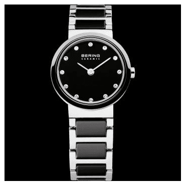 Ceramic Watch, Black Part Ceramic Strap and Black Dial 10725-742