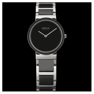 Ceramic Watch, Black Part Ceramic Strap and Black Dial 10729-742