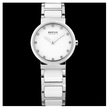 Ceramic Watch, White Part Ceramic Strap and White Dial 10729-754