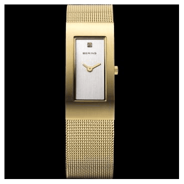 Classic Watch, Gold Mesh Strap and Silver Dial 10817-334