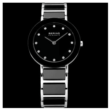 Ceramic Watch, Black Part Ceramic Strap and Black Dial 11429-742