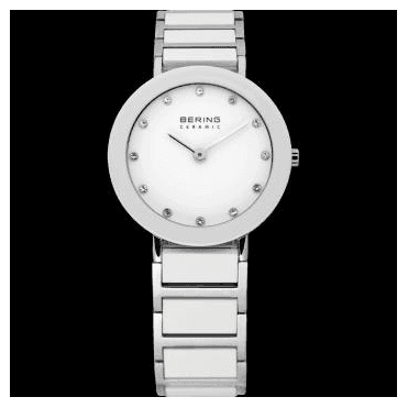 Ceramic Watch, White Part Ceramic Strap and White Dial 11429-754