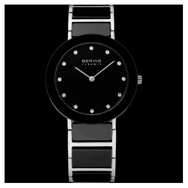 Ceramic Watch, Black Part Ceramic Strap and Black Dial 11435-749