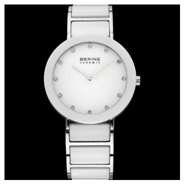 Ceramic Watch, White Part Ceramic Strap and White Dial 11435-754